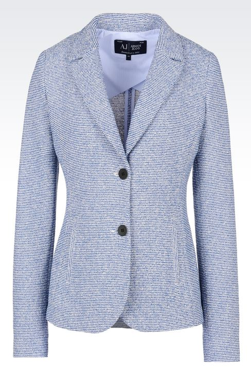 JACKET IN BOUCLÉ: Two buttons jackets Women by Armani - 1
