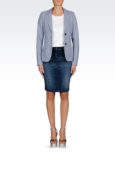 JACKET IN BOUCLÉ: Two buttons jackets Women by Armani - 2