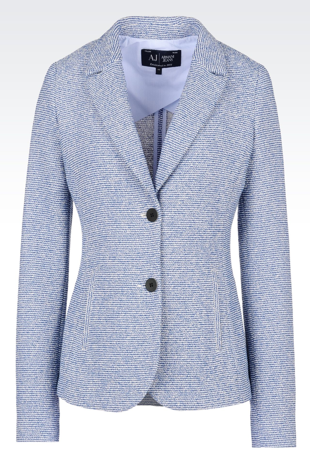 JACKET IN BOUCLÉ: Two buttons jackets Women by Armani - 0