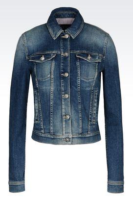 Armani Giubbini jeans Donna giubbotto in denim