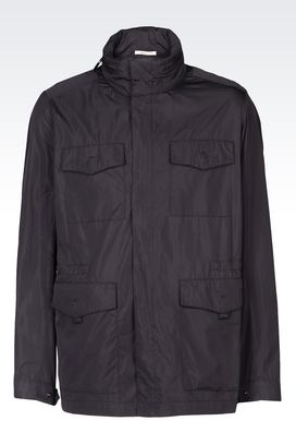 Armani Dust jackets Men travel essentials pea coat in technical fabric