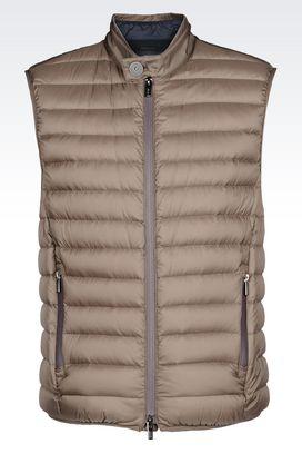 Armani Padded vests Men packable down gilet