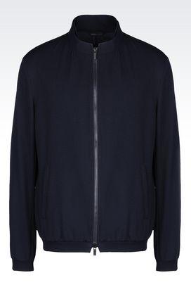 Armani Bomber jackets Men bomber in seersucker nylon