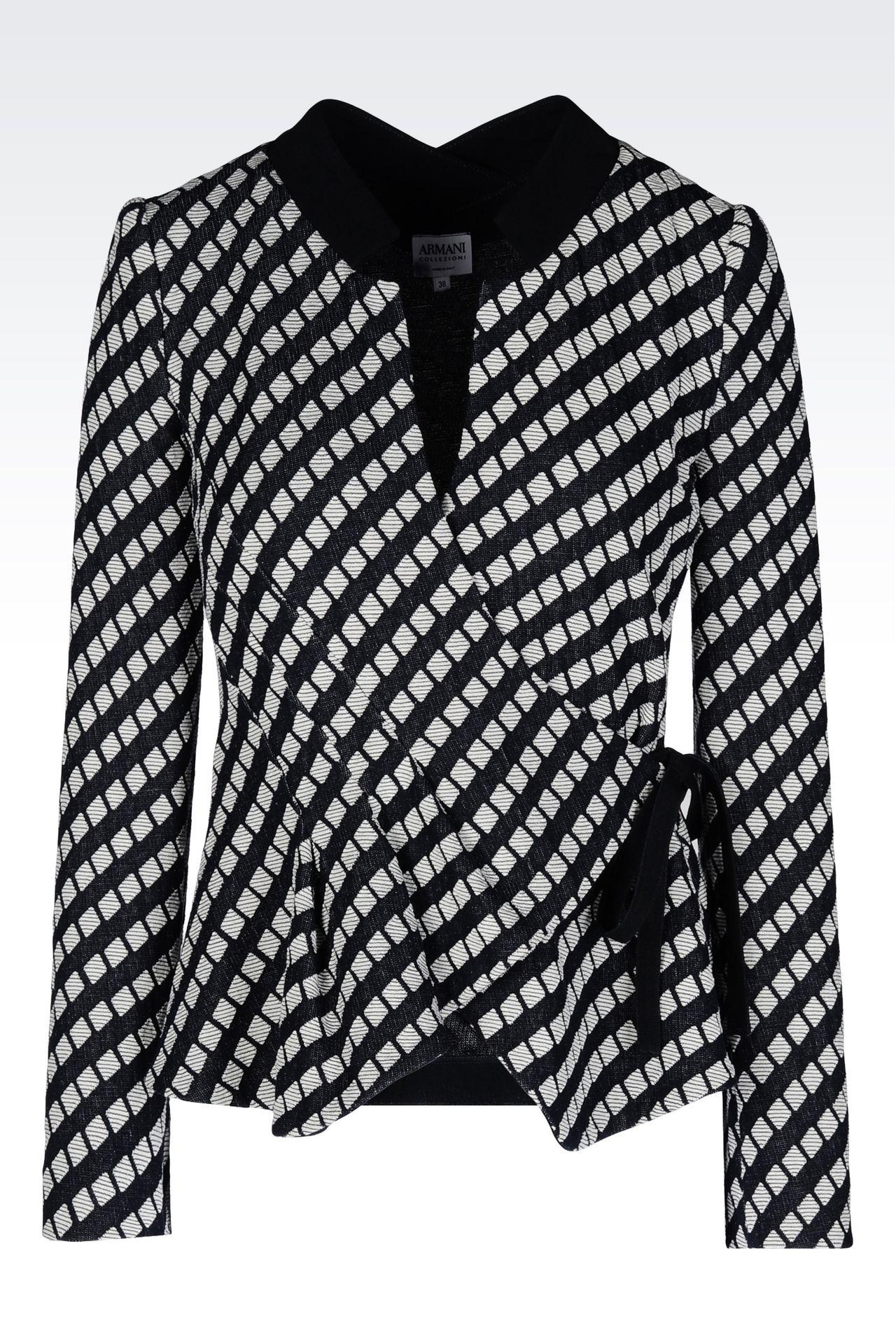 JACKET IN JACQUARD: Dinner jackets Women by Armani - 0