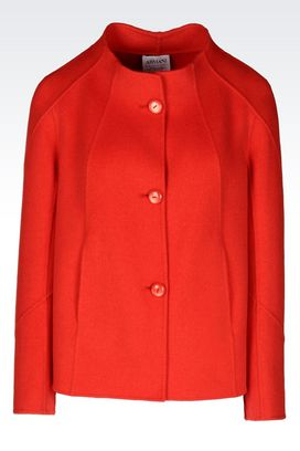 Armani Dust jackets Women pea coat in wool and cashmere