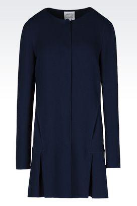 Armani Dust jackets Women coat in wool crêpe