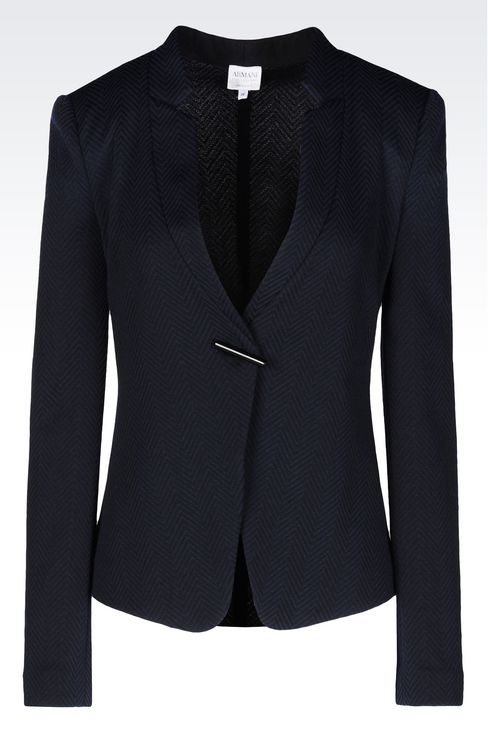 JACKET IN JACQUARD: One button jackets Women by Armani - 1