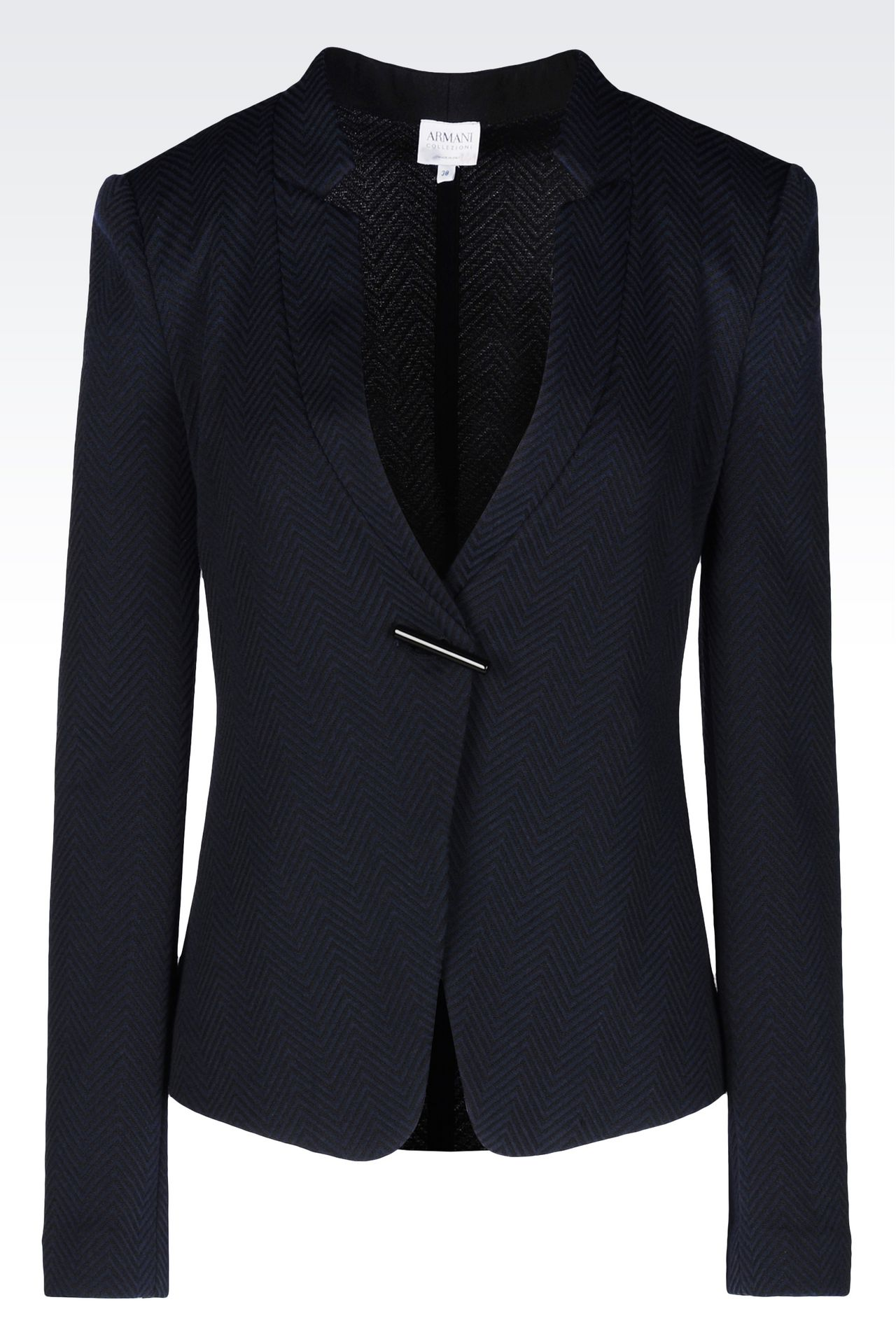 JACKET IN JACQUARD: One button jackets Women by Armani - 0