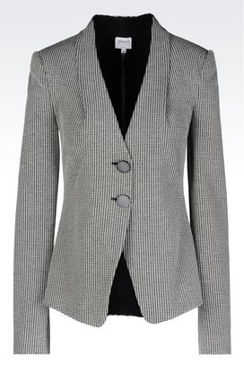 Armani Two buttons jackets Women jacket in jacquard