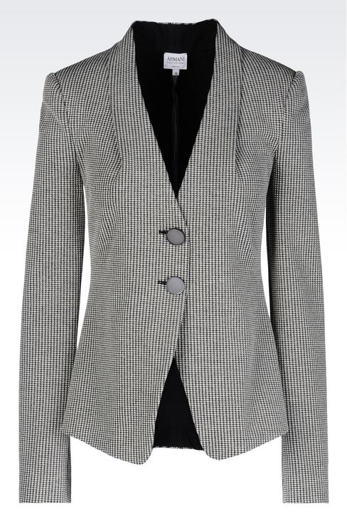 JACKET IN JACQUARD: Two button jackets Women by Armani - 1