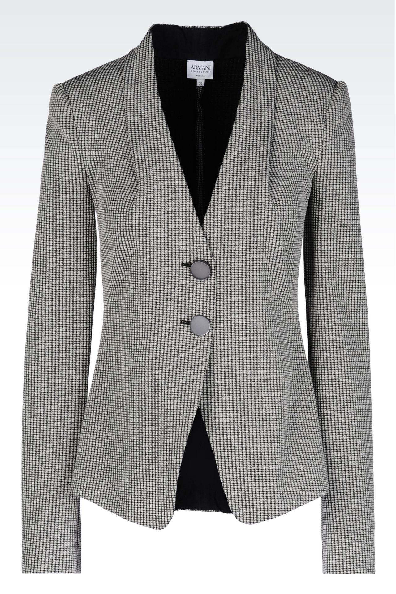 JACKET IN JACQUARD: Two button jackets Women by Armani - 0