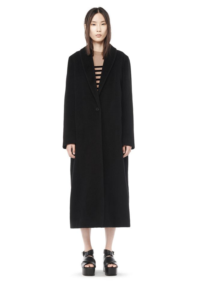 T by ALEXANDER WANG JACKETS AND OUTERWEAR  Women MOHAIR WOOL LONG COAT