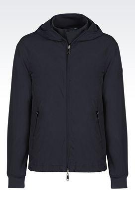 Armani Dust jackets Men hooded blouson in technical fabric