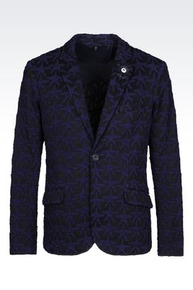 Armani One button jackets Men jacket in embroidered fabric