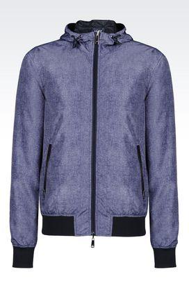 Armani Dust jackets Men full zip hooded blouson