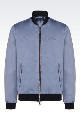 Armani Dust jackets Men bomber in cotton satin
