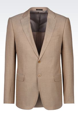 Armani Two buttons jackets Men slim fit jacket in viscose blend