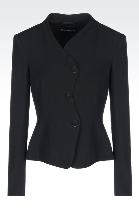 JACKET IN CADY: Three buttons jackets Women by Armani - 1