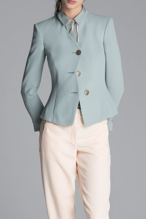 JACKET IN CADY: Three buttons jackets Women by Armani - 2