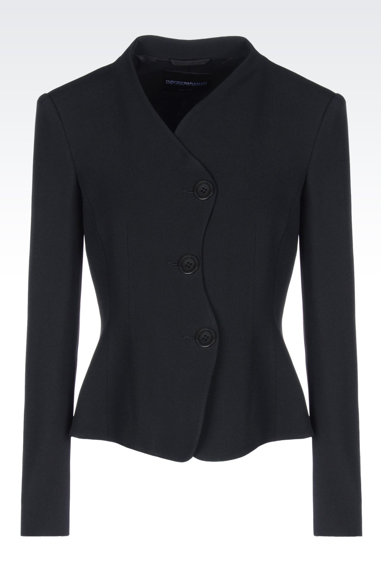 JACKET IN CADY: Three buttons jackets Women by Armani - 0