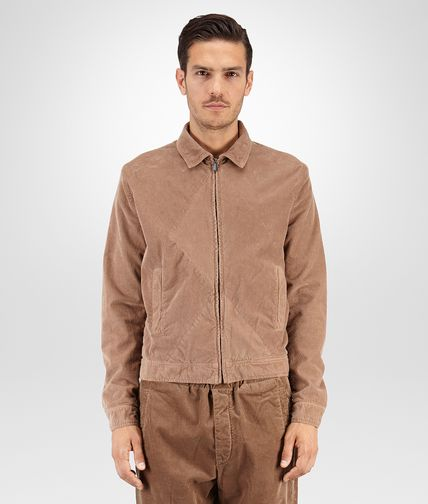BLOUSON IN TOFFEE CORDUROY