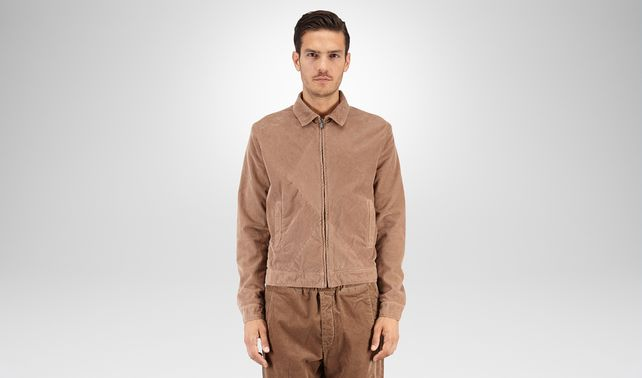 BLOUSON IN VELLUTO TOFFEE