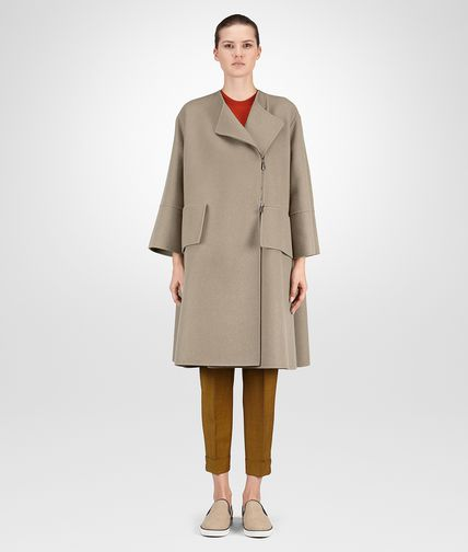 COAT IN TOFFEE DOUBLE CASHMERE
