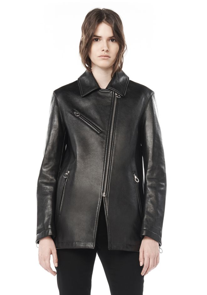 ALEXANDER WANG JACKETS AND OUTERWEAR  Women A-LINE PEACOAT WITH MOTO POCKET DETAIL