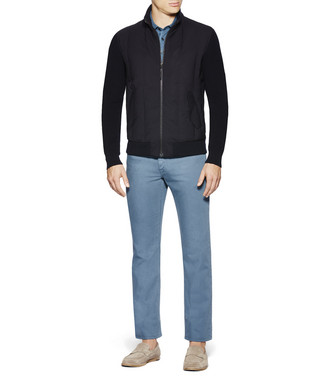 ERMENEGILDO ZEGNA: Fabric Jacket Black - 41615673MC