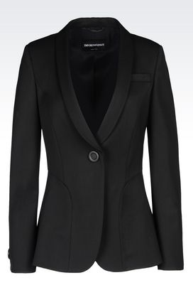Armani One button jackets Women jacket in stretch wool