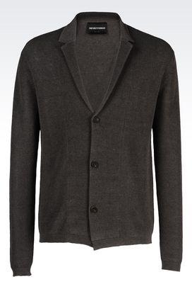 Armani Three buttons jackets Men knit jacket