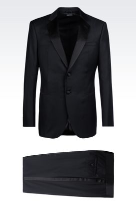 Armani Suits Men single-breasted dinner suit in wool and cashmere