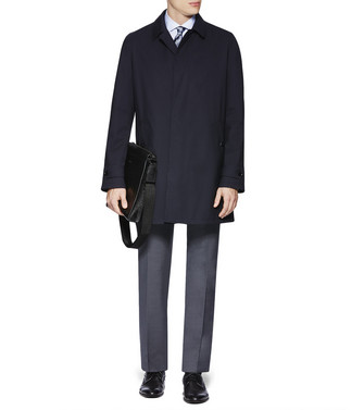 ERMENEGILDO ZEGNA: Manteau Long Noir - 41616750TO