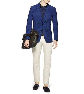 ERMENEGILDO ZEGNA: Business Jackett Blau - 41616755IE