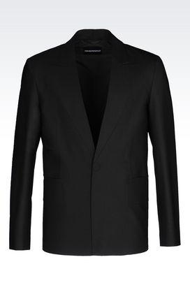 Armani Vestes à un bouton Homme veste en laine stretch