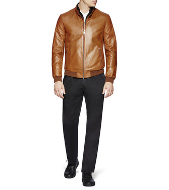 ZZEGNA: Leather Outerwear Brown - 41617742BH