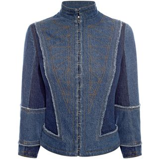 ALEXANDER MCQUEEN, Jacket, Denim Corset Jacket