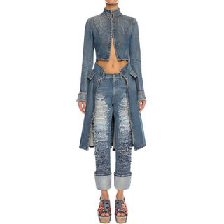 ALEXANDER MCQUEEN, Coat, Denim Frock Coat