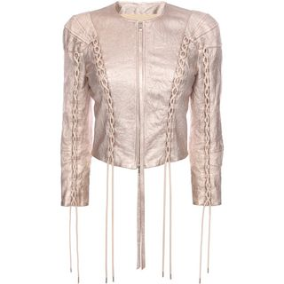 ALEXANDER MCQUEEN, Jacket, Washed Metallic Leather Jacket