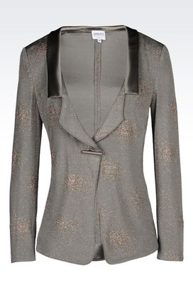 Armani One button jackets Women jersey jacket with glitter print