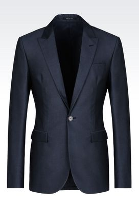 Armani One button jackets Men jacket in wool