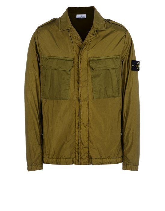 Jacket 44736 GARMENT DYED CRINKLE REPS NY STONE ISLAND - 0
