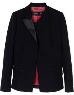 Crepe tuxedo jacket
