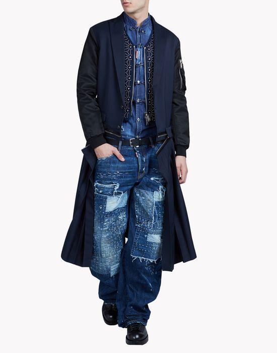 pleated punk coat coats & jackets Man Dsquared2