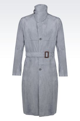 Armani Cappotti in pelle Men trench coat in suede