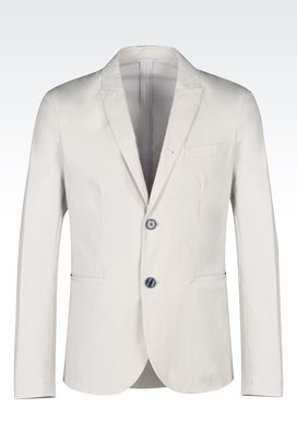 Armani Two buttons jackets Men jacket in cotton poplin