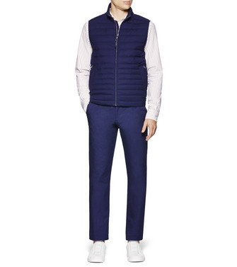 ERMENEGILDO ZEGNA: Fabric Jacket Blue - 41621178DB