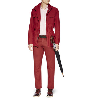ERMENEGILDO ZEGNA: Fabric Jacket Brick red - 41621182UX