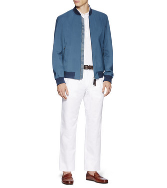 ERMENEGILDO ZEGNA: Fabric Jacket Blue - 41621184CI