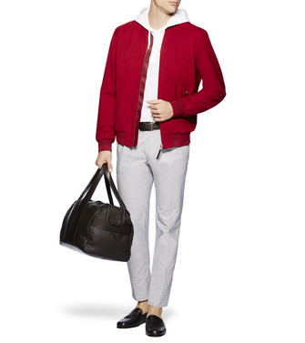 ERMENEGILDO ZEGNA: Fabric Jacket Red - 41621186UO